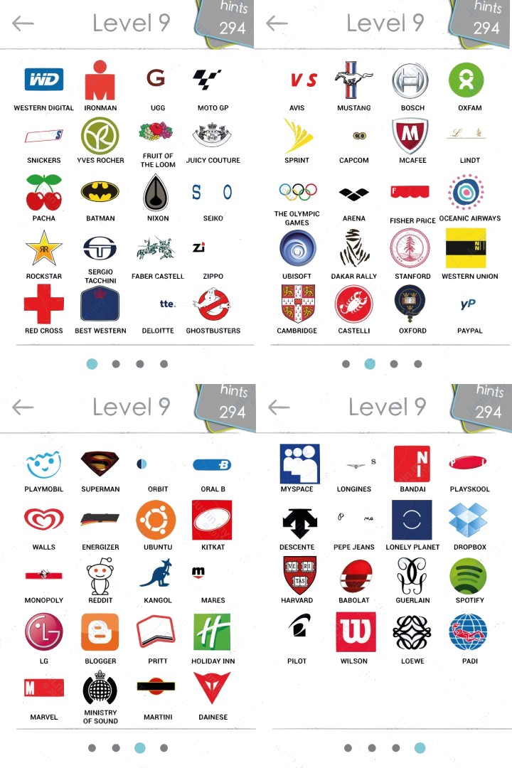 image gallery logos level 9